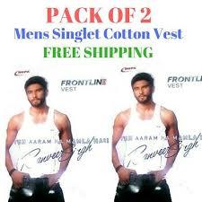 Mens Singlet Cotton Sleeveless White Gym Casual Vest Pack Of 2 Rupa Frontline Ebay