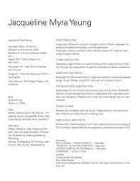 Resume Jacqueline Myra Yeung Communication Design