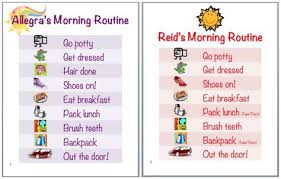 List Of Mourning Routine Kids Editable Chore Charts Pictures