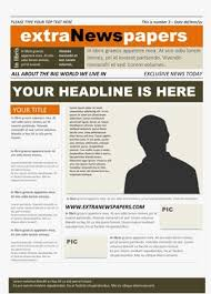 Newspaper Template No Download Free Newspaper Template Pack For Word Perfect For School