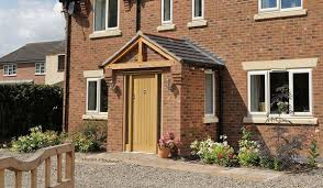 Brick Front Stoop Designs Porches Upvc Brick Entrance Porch From Conservatory