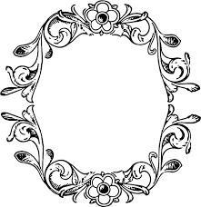 Clipart Floral Decorative Frame Border