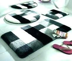 5 piece bathroom rug set sets bath stunning rugs home designed for your scroll black carpet