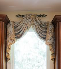 Image Scarf Valance Custom Draperies Custom Window Treatments Custom Blinds Custom Bed Linens Throws And Pillows Pinterest Window Treatment Solutions At Sheffield Furniture Interiors