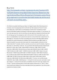 Aging Analysis P6 4 Determining Bad Debt Expense Based On Aging Analysis Blue Skies
