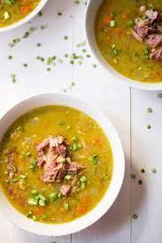 healthy slow cooker split pea soup a