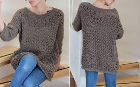Crochet Oversized Sweater Pattern