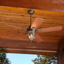 outdoor ceiling fan on a covered porch