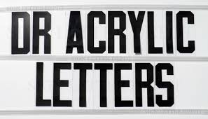 DR Acrylic Sign Letters 1