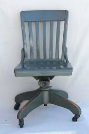 antique wood office chair. Desk Chair Vintage Antique Oak Office Early W Old Industrial Grey Paint Leather Wood R