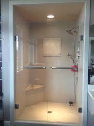 frameless double shower door