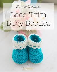 Crochet Baby Shoes Pattern Stunning LaceTrim Baby Booties Free Crochet Pattern Loganberry Handmade