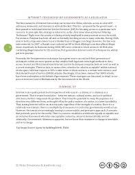 internet censorship term paper