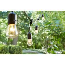 Home Depot Cafe Lights Hampton Bay 48 Ft 24 Socket Incandescent String Light Set