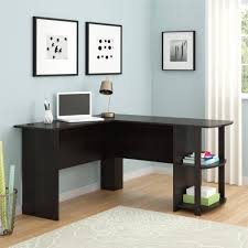 image of l shaped home office desk with black