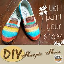 picture of diy sharpie shoes