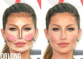 highlight and contour makeup guide for oblong face shape