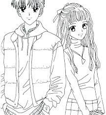 People Coloring Page Pages For Adults Girls And Boys Anime Colo