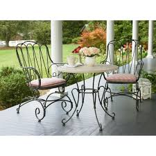 green wrought iron patio furniture. black wrought iron cafe table and chairs furniture u003e outdoor green patio f