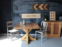 Kitchen Table Reclaimed Wood Trestle Base Kitchen Table Reclaimed Wood Rustic Modern Dining