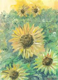 Presume Sunflowers I presume. Flowers. Drawings. Pictures. Drawings ideas ...