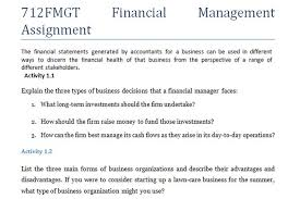 fmgt financial management assignment essay writing