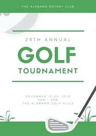 Green And White Golf Poster Tournament Sign Up Sheet Template ...