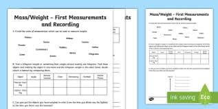 Measure And Begin To Record Mass Weight 2014 Curriculum Maths