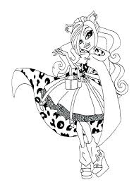 Monster High Color Pages Monster High Coloring Pages Printable Pdf