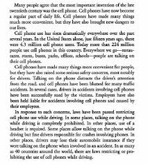 cell phones and driving essay co cell
