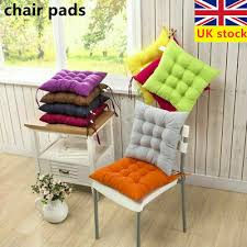6pc chair seat pads dining cushions tie