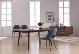 modern italian dining room furniture. modern walnut dining table with antique brass feet italian room furniture