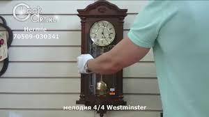 <b>Настенные</b> механические <b>часы Hermle</b> 70509-030341 - YouTube