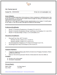 And Resume Samples With Free Download One Page Simple Resume Format