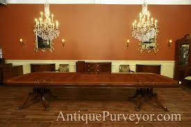 Extra Large Antique Reproduction Dining Table Seats 14 16 People. Detailed  Banding And High Shine