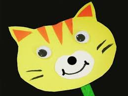How To Make A Simple Paper Cat Stick Puppet With Your Kids