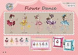 Amazon Com So G115 Flower Dance Soda Cross Stitch Pattern