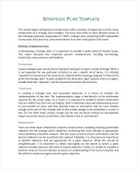 strategic plan outline template 49 examples of strategic plans