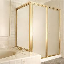 framed corner shower door