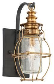 troy b3571 little harbor small outdoor aged brass 12 inch tall nautical wall sconce loading zoom