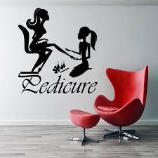 <b>Pedicure</b> Manicurist <b>Wall Sticker</b> Day Spa Studio Decoration <b>Nails</b> ...