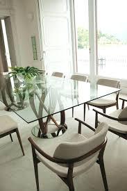 dining tables rectangular infinity dual base rectangular dining table with glass top indoor furniture rectangular glass