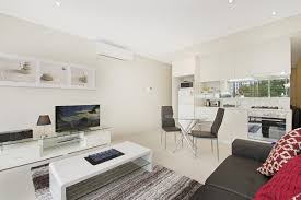 North Sydney one bedroom studio serviced apartment lounge room