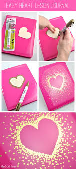 DIY your Christmas gifts this year with GLAMULET. they are compatible with  Pandora bracelets. Gold Sharpie Heart Design on Journal by Club Chica  Circle.