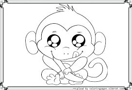 Cute Baby Monkey Coloring Pages Coloring Pages Of Monkeys Cute