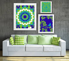 mosaic collage wall art gallery set of