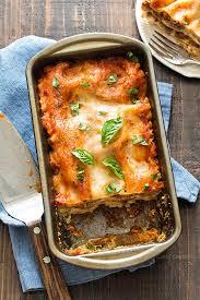 loaf pan lasagna homemade