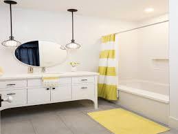 over mirror lighting bathroom. Frameless Oval Home Depot Bathroom Mirrors Above Single Sink Vanity Under Two Pendantamps Also Yellow Floor Over Mirror Lighting