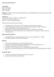 sample resume front office executive hotel samples clerk desk rh yomm info