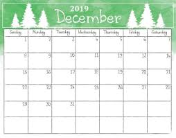 December Calendar Excel December 2019 Calendar Excel Yearly Calendar Printable Template